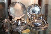 Sale 8304 - Lot 96 - Silver Plated Tray with Other Plated Wares incl Lidded Tureen