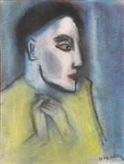 Sale 8451E - Lot 5015 - Robert Dickerson (1924 - 2015) - Pensive Woman 37 x 27cm (frame size: 51 x 41cm)