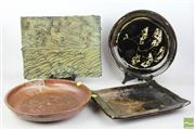 Sale 8486 - Lot 36 - Australian Studio Pottery inc Large Bowls and Dishes (4)