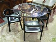 Sale 8532 - Lot 1032 - Modern Dining Suite inc Glass Top Table and 4 Chairs