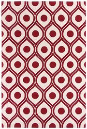 Sale 8563A - Lot 30 - The Florence Broadhurst Collection Design; Honeycombe Made in; Nepal Colour; Scarlet Made from; Tibetan Wool Size; 200 x 3...