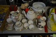 Sale 8563T - Lot 2315 - Group of Sundries incl. Chamber, Platters, Queen Anne Tea Service, Vases, etc