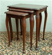 Sale 8881H - Lot 88 - A nest of three graduated tables, the largest Height 54cm x Width 48cm x Depth 32cm