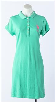 Sale 9003F - Lot 59 - A US Polo bright green T shirt dress, Size L