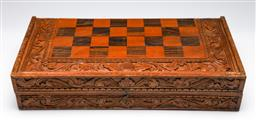 Sale 9253 - Lot 385 - Carved Indonesian Style Chess set (48cm x 48cm)