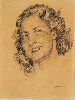 Sale 3847 - Lot 9 - NORMAN LINDSAY (1879-1969) - Head of a Female 29 x 21 cm