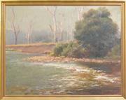 Sale 8297 - Lot 529 - Robert Camm (1847 - 1933) - Untitled (Cattle by the River) 85.5 x 110cm