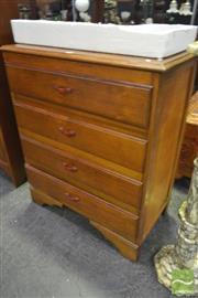 Sale 8284 - Lot 1037 - Art Deco Chest of 4 Drawers