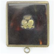 Sale 8390A - Lot 58 - Tortoiseshell & Metal Rimmed Vesta with Raised Coat of Arms