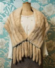 Sale 8420A - Lot 1 - A vintage platinum blonde mink fur stole with removable tippets, fully lined, condition: very good, size: one size fits most