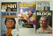 Sale 8418S - Lot 57 - BOOKS ON BALMAIN PLAYERS. (5 books) Local Hero Wayne Pearce Story, Doing my Block, Steve Roach, Sirro Paul Sirronen, Something More...
