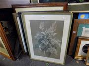Sale 8429A - Lot 2062 - Framed Embroidery of a Deer & Collection of (4) Various Prints, various sizes