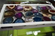 Sale 8566 - Lot 1565 - Box Mixed Polished Agate Ends