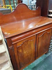 Sale 8740 - Lot 1657 - Late 19th Century Cedar Chiffonier, with shaped back, long drawer & two shaped panel door (key in office)