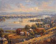 Sale 8821 - Lot 597 - Bill Ambagtsheer (1944 - ) - Southern View Mannum South 60 x 75cm