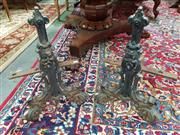 Sale 8831 - Lot 1047 - Pair of Cast Iron Fire Dogs