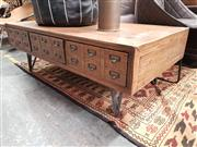 Sale 8904 - Lot 1062 - Rustic Timber Coffee Table (H: 45 W: 130 D: 70cm)