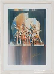 Sale 8973 - Lot 2063 - Charles Billich Framed Poster ( 120 x 84cm)