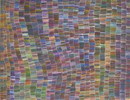 Sale 9092A - Lot 5036 - Jeannie Mills Pwerle (1965 - ) - Bush Yam 154 x 200 cm (stretched and ready to hang)