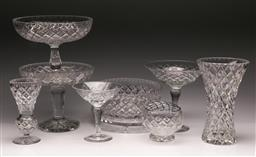 Sale 9119 - Lot 68 - A collection of cut glass items inc comports, vases and bowls