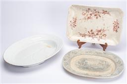 Sale 9185E - Lot 150 - A group of three ceramic platters, Largest Width 53cm
