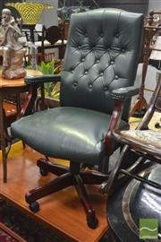 Sale 8323 - Lot 1038 - Leather Button Back Office Chair