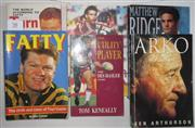 Sale 8418S - Lot 58 - BOOKS ON MANLY PLAYERS. (6 books) From the Bush to Brookvale Cliff Lyons The Utility Player Des Haslar, Arko Ken Arthurson, Fatty Pa...