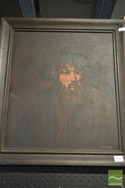 Sale 8495 - Lot 2040 - F. De Jesus - Portrait of Elderly Man 40 x 30cm