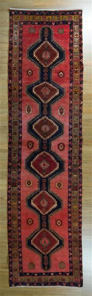 Sale 8665C - Lot 57 - Persian Shiraz Runner 385cm x 105cm