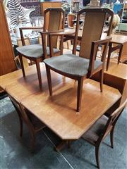 Sale 8741 - Lot 1031 - Unusual G Plan Teak Dining Table and 6 Chairs