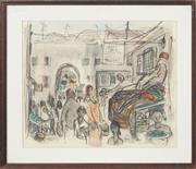 Sale 8753 - Lot 2023 - Edward Smith - Rug Seller, Jerusalem 29 x 35.5cm
