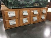 Sale 8740 - Lot 1437 - Timber Card Filer of Eight Drawers
