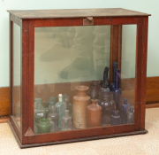 Sale 8795A - Lot 67 - A timber and glass scientific case, width: 51cm