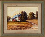 Sale 8818A - Lot 55 - BJoseph PennDRI The Rectory YardDR oil on canvasR 29 x 39cmR signed and dated lower right 2000