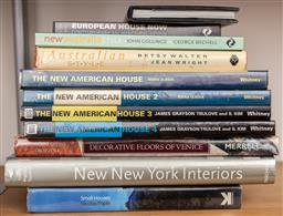 Sale 9160H - Lot 222 - A shelf lot of books on american interior, including The New American House