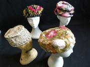 Sale 7982B - Lot 38 - Four floral and beaded fascinators, one of which is Christian Dior