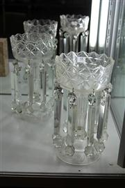 Sale 8098 - Lot 58 - Crystal Pair of Lustres (Missing Some Drops)