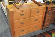 Sale 8392 - Lot 1030 - Kauri Pine Chest of Four Drawers