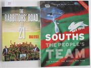 Sale 8418S - Lot 59 - BOOKS ON SOUTHS. (2 books) Souths The People's Team and The Rabbitoh's Road to 21.