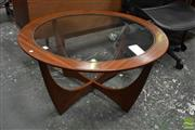 Sale 8511 - Lot 1082 - G-Plan Round Atmos Coffee Table with Glass Top