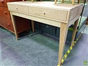 Sale 8562 - Lot 1058 - Two Drawer Desk with tapering Legs