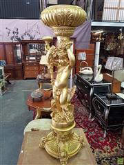 Sale 8566 - Lot 1388 - Pair of Putti Form Planters (137)