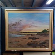 Sale 8636 - Lot 2017 - Griffith - Salt Tree Evening- Fanny Bay oil on linen 90 x 105cm signed lower right