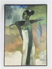 Sale 8699A - Lot 762 - Gopal Woman with Umbrella, oil on canvas, 100 x 70cm