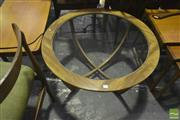 Sale 8287 - Lot 1070 - Circular G-Plan Teak Atmos Coffee Table with Glass Top