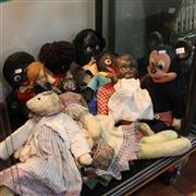 Sale 8300 - Lot 89 - Handmade Gollys with Other Dolls incl. Vintage Mickey Mouse