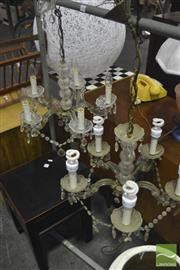 Sale 8307 - Lot 1086 - Pair of Glass Chandeliers
