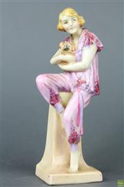 Sale 8599 - Lot 96 - Early Doulton Lido Lady Figurine