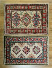 Sale 8617C - Lot 78 - 2 Pieces Afghan Kazak 90x60