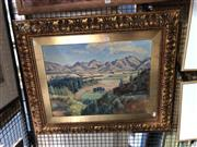 Sale 8845 - Lot 2069 - Gustav Cohn - Country Vistaoil on canvas, 67 x 80cm (frame), signed lower right